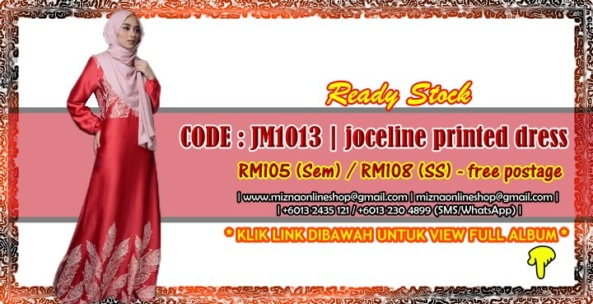 [READY STOCK] JM1013 – JOCELINE PRINTED JUBAH