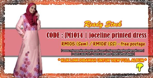 [READY STOCK] JM1014 – JOCELINE PRINTED JUBAH