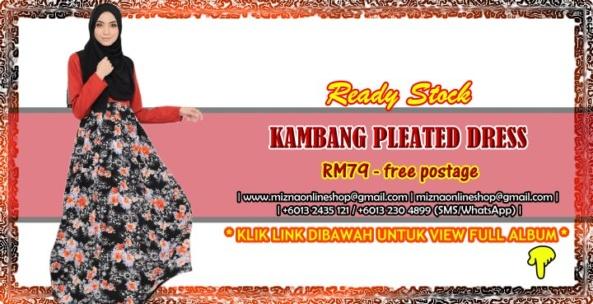 [READY STOCK] KAMBANG PLEATED DRESS