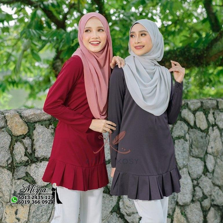 BLOUSE COLLECTIONS, ATTIRE KOSY COLLECTIONS, COSIK BLOUSE, PLAIN BLOUSE, CASUAL BLOUSE, BLOUSE, BLOUSE SIZE XS, BLOUSE SIZE S, BLOUSE SIZE M, BLOUSE SIZE L, BLOUSE SIZE XL, BLOUSE SIZE 2XL, BLOUSE SIZE 3XL, BLOUSE SIZE 4XL, BLOUSE SIZE 5XL, BLOUSE SIZE 6XL, BLOUSE SIZE 7XL, PLUS SIZE BLOUSE, LONG SLEEVE BLOUSE, CASUAL BLOUSE, WUDHUK FRIENDLY BLOUSE, TUNIC BLOUSE, NURSING FRIENDLY BLOUSE, BF BLOUSE, BLOUSE MENYUSU, NURSING BLOUSE, BLOUSE MURAH, BLOUSE MUSLIMAH, BLOUSE LABUH,